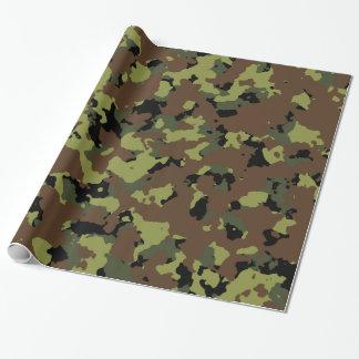 Mos Groene Militaire Camo Inpakpapier