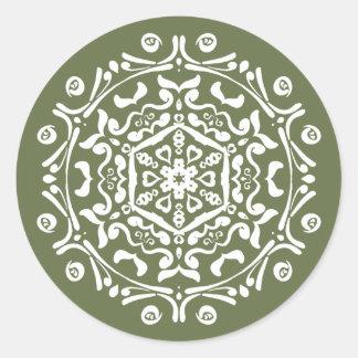 Mos Mandala Ronde Sticker