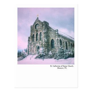 Moskou, PA briefkaart-St. Catherine van Siena Kerk Briefkaart