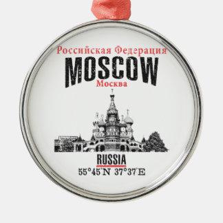 Moskou Zilverkleurig Rond Ornament