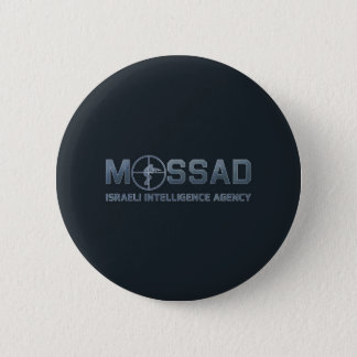 Mossad - het Israëlische Agentschap van de Ronde Button 5,7 Cm