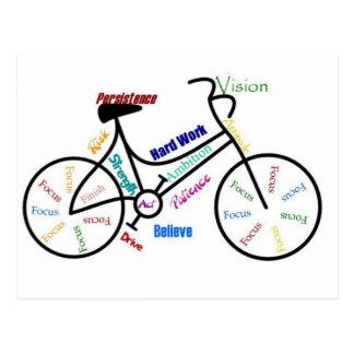 Motivatie Fiets, Fiets, het Cirkelen, Sport, Hobby Briefkaart