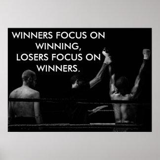 Motivatie het Winnen van de Boksring Citaat Poster