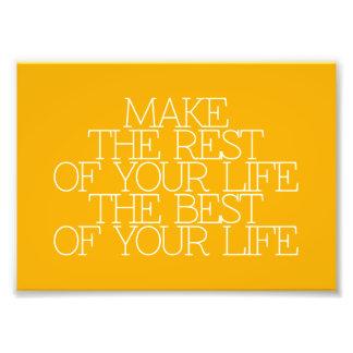 Motivatie, inspiratie, woorden van wijsheid. foto afdruk