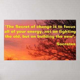 Motivatie Poster over verandering