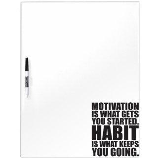 Motivatie versus Gewoonte - Motivatie Training Whiteboards