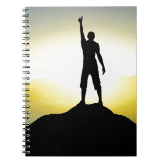 Motivational boekje aan spiraal ringband notitieboek