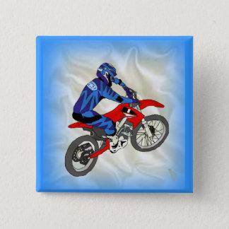 Motocross 201 vierkante button 5,1 cm