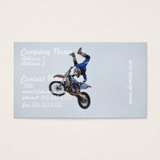 Motocross die hoog vliegen visitekaartjes