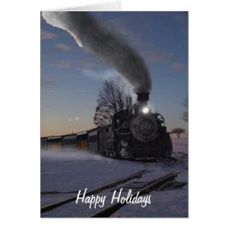 Motor van de stoom 481 Kerstkaart Kaart