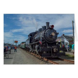 Motor van de Stoom van de Spoorweg van de Kust van Briefkaarten 0