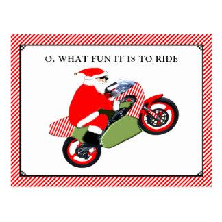 motorfiets Kerstkaarten Briefkaart