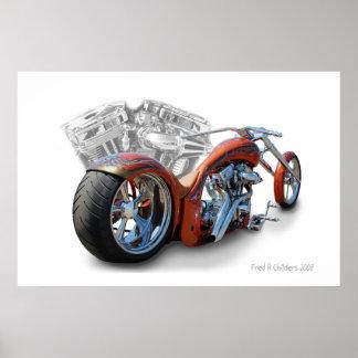 motorfiets poster