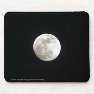 Mousepad - Volle maan op duidelijke nachthemel Muismat