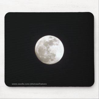 Mousepad - Volle maan op duidelijke nachthemel Muismatten