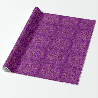 Mozaïek van heldere violette kleur van Alhambra. Cadeaupapier