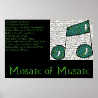 Mozaïek van Musaic Poster