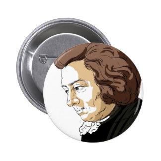 Mozart (Wolfgang Amadeus Mozart) Ronde Button 5,7 Cm