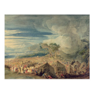 Mozes die de wateren van het Rode Zee verdelen Briefkaart