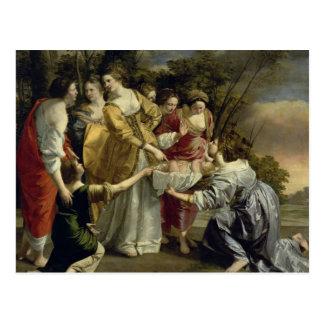 Mozes Rescued van de Nijl, c.1630 Briefkaart