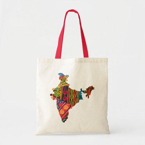 Mp van het Borduurwerk van India Canvas Tassen
