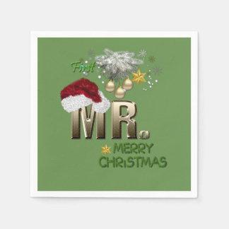 MR.First Kerstmis Wegwerp Servet