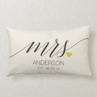 Mr.& Huwelijk gift-2 van Mevr. Personalized Lumbar Kussen