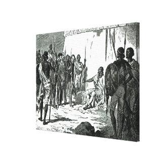 Mr.Rassam gesprek met Koning Theodorus II Canvas Print