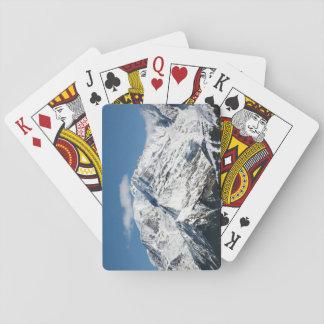 Mt. Blanc met wolken Pokerkaarten