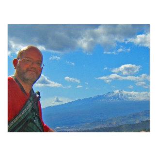 Mt. het Briefkaart van Etna, Italië