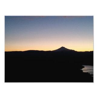 Mt. Jefferson/Meer Billy Chinook Foto Afdruk