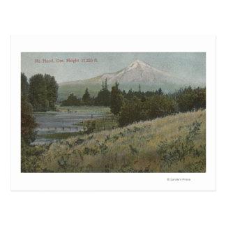 Mt. kap, Oregon - Uitzicht van Berg van Kap Briefkaart