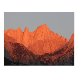 Mt. Whitney in Dawn… Briefkaart
