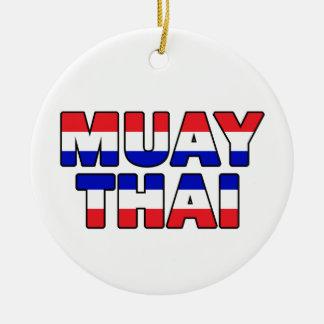 Muay Thai Rond Keramisch Ornament