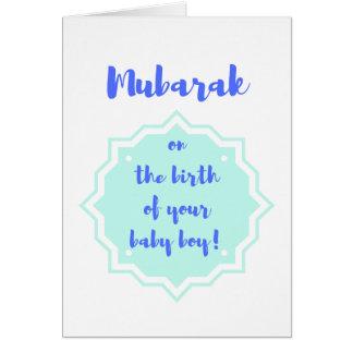 Mubarak op de Geboorte van Uw Jongen van het Baby! Kaart