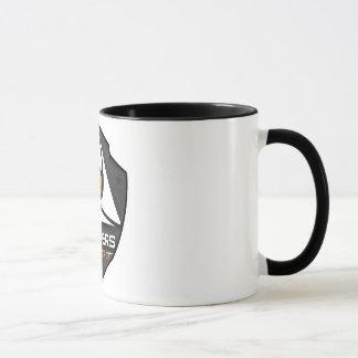 Mug 2 kleuren Wit/Zwart met logo Mok