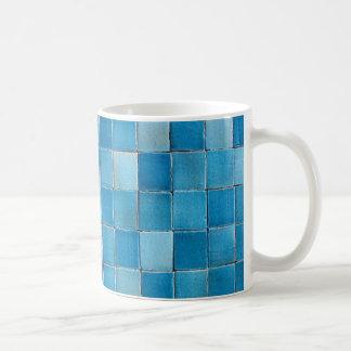 mug beschadigd mozaïek blauw koffiemok
