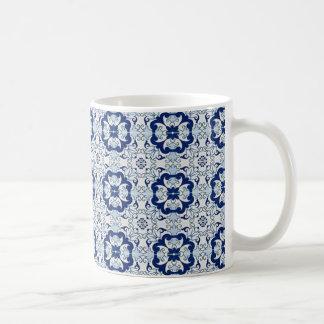 mug déco azulejos jouw blauw koffiemok