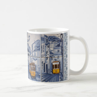 mug déco Lissabon Azulejos tram Koffiemok