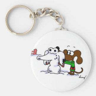 Mug die Snowdog Keychain bouwen Sleutelhanger