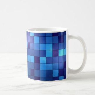 mug mozaïek aan de blauwe beschadigde tonen koffiemok