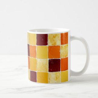 mug mozaïek orangés koffiemok
