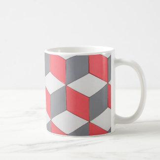mug tweekleurig mozaïek koffiemok