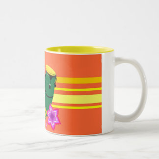 Mugs Oranje Tweekleurige Koffiemok