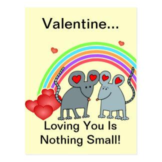 Muizen in de Valentijnskaarten van de Liefde Briefkaart