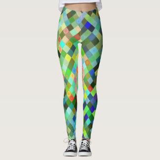 Multi-colored Patroon van de Diamant Leggings