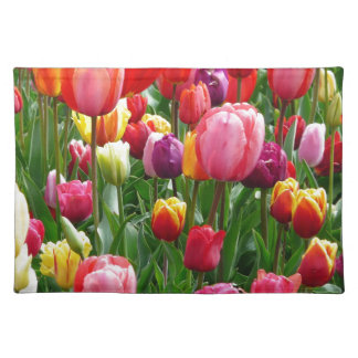 Multi-colored Tulpen Placemat