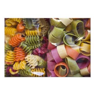 Multi gekleurde deegwaren, Torri del Benaco, Veron Foto Afdruk