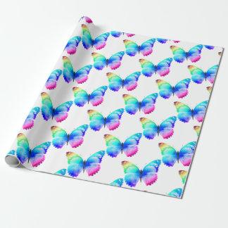 Multi gekleurde vlinder inpakpapier