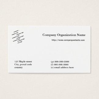 Multi het logovisitekaartje voor alle doeleinden visitekaartjes